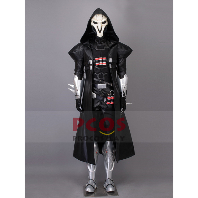 whole set o v e r w a t c h reaper cosplay costume mask mp003369