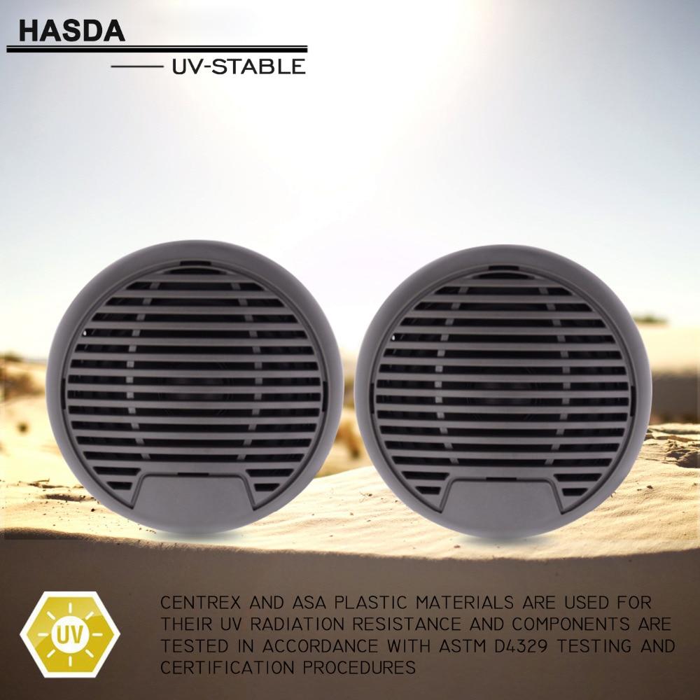 160Watts 3 inch 2 Way Marine Boat Waterproof Speakers for Outdoor Motorcycle Golf Marine Boat SPA