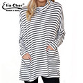 Eliacher Autumn Knitted Long Sleeve Striped T-shirt Women Tops brand Chic Lady Top Plus Size Casual Women Clothing 6673