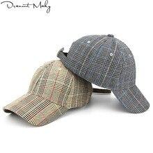 Moda Plaid rayas gorra de béisbol mujeres hombres marca calle hip hop Cap  ajustable sombreros del ante para los hombres negro bl. 1c3ef6ab8bc