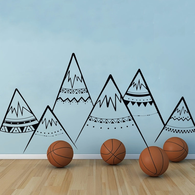 Large Tribal Mountains – Wall Stickers for Kids Room