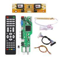 5 OSD Game RR52C.04A Support Digital Signal DVB S2 DVB C DVB T2/T ATV Universal LCD Driver Board USB Play Media 30Pin 6 Bit