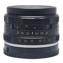 Venidice Meike 50mm f/2.0 large Aperture Manual Multi Coated Focus lens APS-C for Mirrorless cameras Sony NEX3 NEX5 NEX6 NEX7
