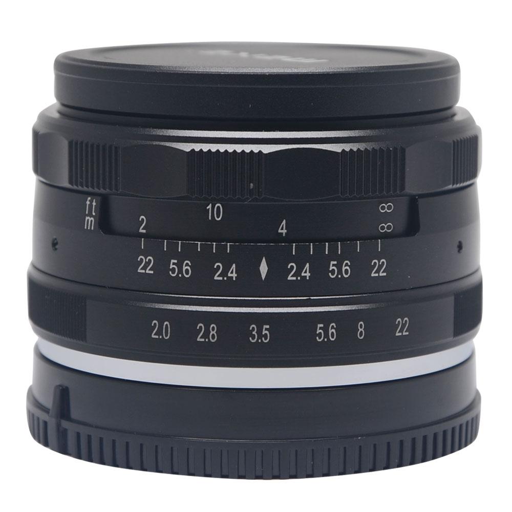 Venidice Meike 50mm f/2.0 large Aperture Manual Multi Coated Focus lens APS-C for Mirrorless cameras Sony NEX3 NEX5 NEX6 NEX7 50mm f2 0 aperture manual focus lens aps c for eosm nikon1 m43 sony e mount nex3 5t 6 7 a5000 a6000 a6300 fuji xt1 camera