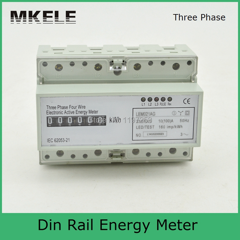 3 Phase Meter Utilyti : Mk lem ag phase wire energy meter connection three