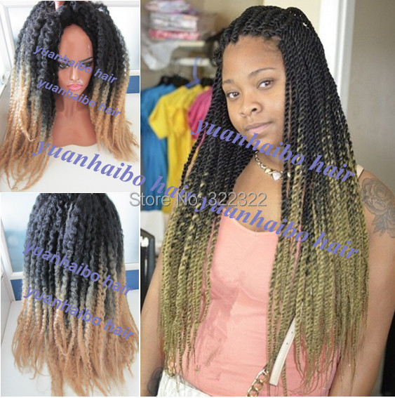 New Colored Two Tone Kinky Afro Ombre Marley Twist 100