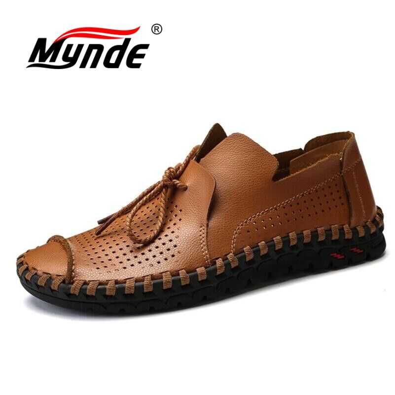 Mynde 2018 New Comfortable Casual Shoes Loafers Summer Men Shoes Quality Split Leather Shoes Men Flats Hot Sale Moccasins Shoes laisumk brand 2018 new comfortable casual shoes loafers men shoes quality split leather shoes men flats fashion hot sale shoes