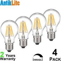 AC 240 Volts 3 4 5 6 7 8 10 W A60 E27 LED Filament Bulb