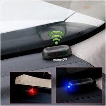 1 шт. универсальный автомобиль поддельные солнечной энергии Сигнализация лампа система безопасности Предупреждение кража Вспышка мигающая защита от светодиодный кражи предупреждение светодиодный свет синий