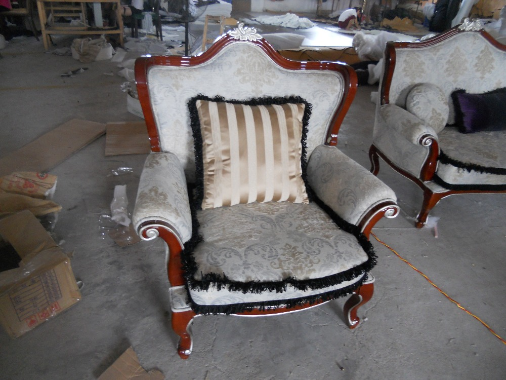 Special shipping chair lazy fashion leisure Fabric Armchair minimalist modern apartment living room wooden carved chair