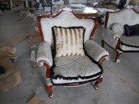 Specjalne wysyłka krzesło fotel tkaniny leniwy wypoczynek mody minimalistyczny nowoczesny apartament pokój dzienny drewniane rzeźbione krzesło
