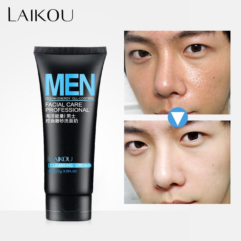 LAIKOU פנים כביסה גברים מוצר פנים ניקוי פנים Scrubs פנים פנים לשטוף & Cleanser עבור שמן שמן ו acne נוטה שמן שליטה