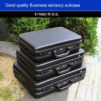 Kaliteli alüminyum alet kutusu alet kutusu Alüminyum çerçeve Iş danışma valizi Adam taşınabilir bavul evrak çantası iki renk