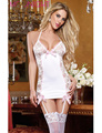 MOONIGHT White Sexy Lingerie Hot Porn Sleepwear Erotic Lingerie Babydoll Lenceria Sexy Costumes+G String For Women, No Stockings