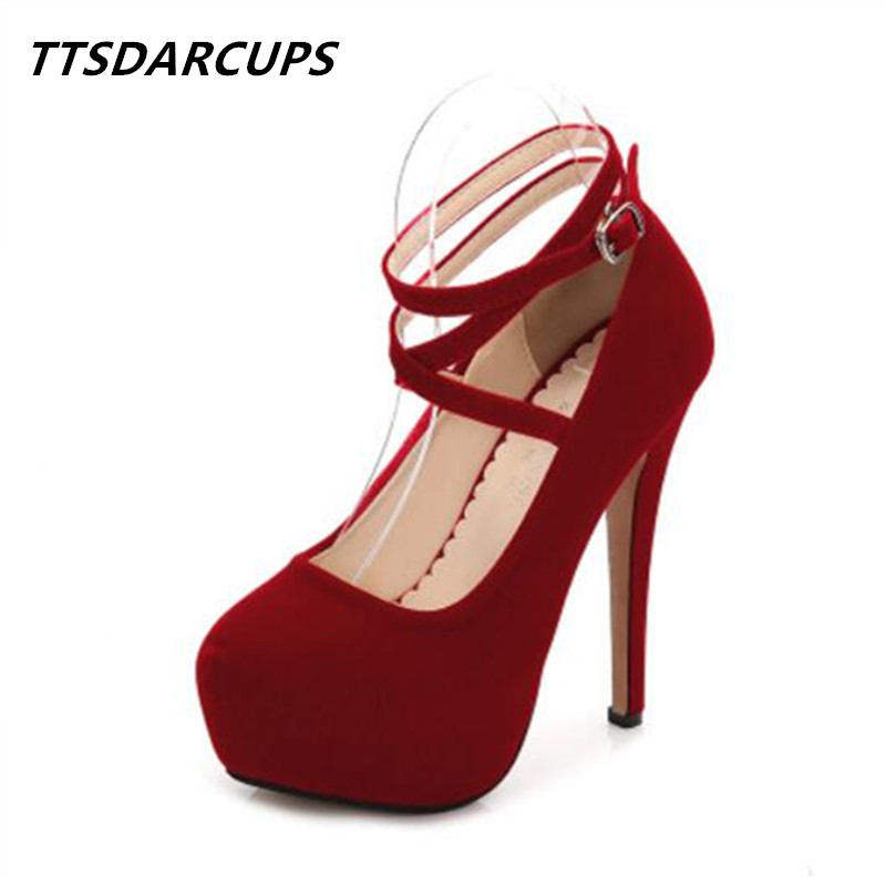 TTSDARCUPS new summer fashion large size cross straps 35-46 ultra high heels female high-heeled 11CM  Nightclub womens shoes