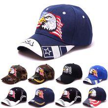 Унисекс патриотическая Американский Флаг Орел бейсболка США 3D вышивка армейская тактическая хип-хоп бейсболка наружная Регулируемая Солнцезащитная шляпа