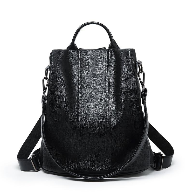 Designer Naisten Reput aitoa nahkaa Naisten reppu Nainen Korean tyyli Naisten hihna Laptop laukku Daily Backpack Girl School