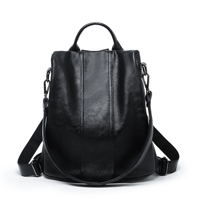 0ae6fb7614a8 Designer Women s Backpacks Genuine Leather Female Backpack Woman Korean  Style Ladies Strap Laptop Bag Daily Backpack Girl School