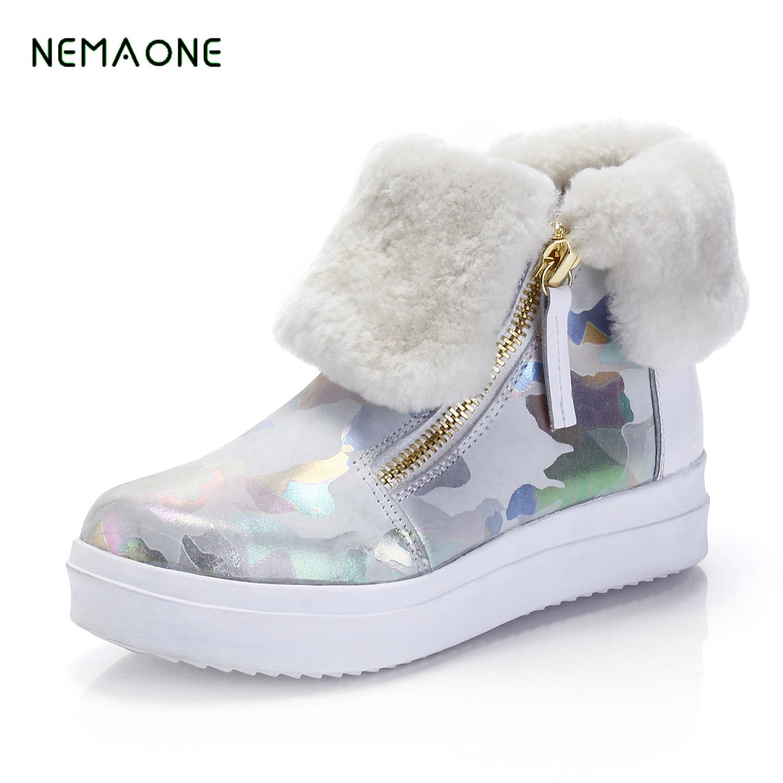 NEMAONE 2017 New Winter font b Women b font Snow font b Boots b font Shoes