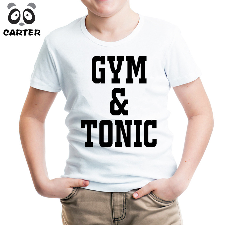 Sloths/amzzonian/earthwrom Gym Creative T-shirts Children Summer O Neck Soft Clothes Kids Funny Tee Top