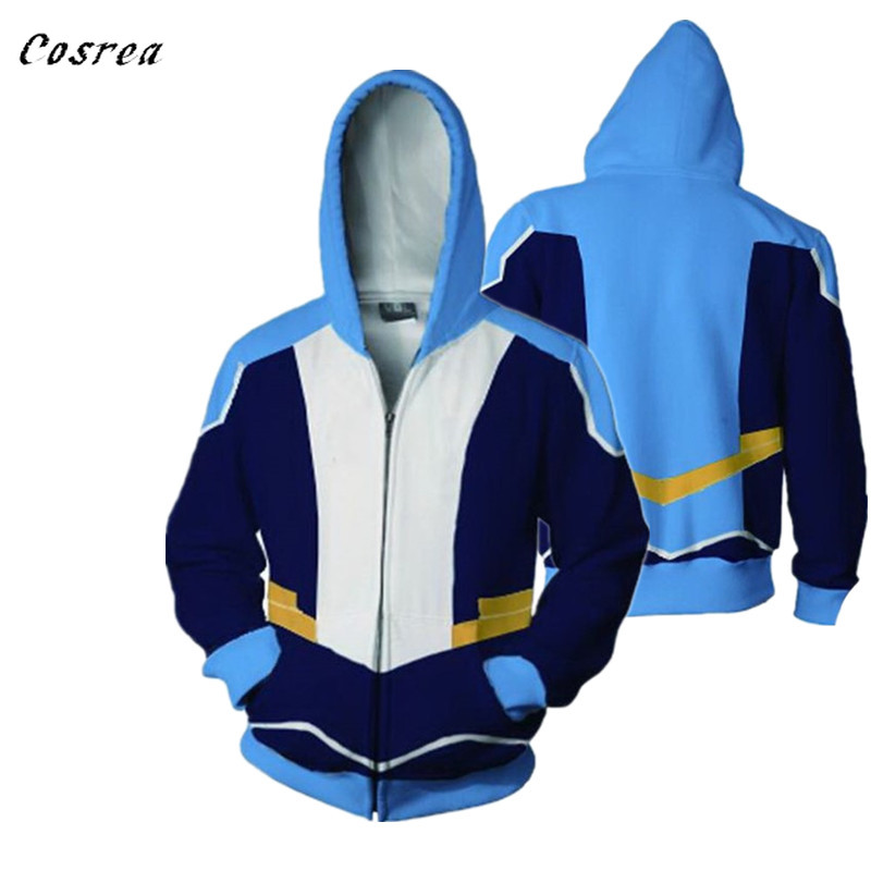 Voltron Rance:Cosplay Costume Keith Lance Sven Pidge Zippe 3D Printing Hooded Sweaterr Halloween Carnival Men Women Hoodies