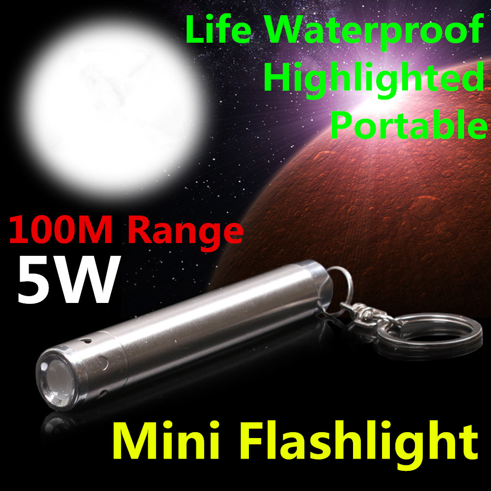 Mini Waterproof Aluminium Alloy LED Flashlight Portable AAA Battery XML Cree Flashlight Moon Shape Torch Keychain L4 biostal ng 600 1