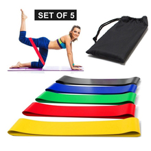 5PCS/set Yoga Resistance Bands Loop Training Workout Flexbands Elastic Bands For Fitness Stretching Home Exercise Equipment