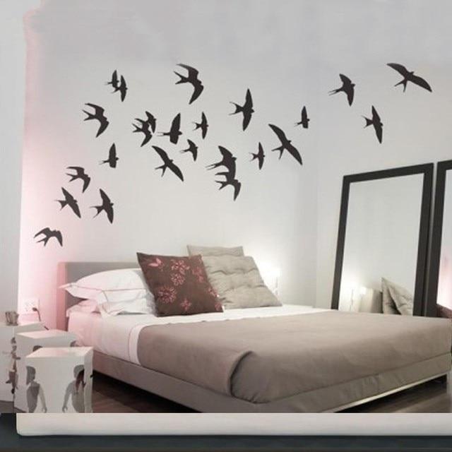 zwaluwen vinyl wall art muursticker vinilos paredes muurstickers slaapkamer muurstickers home decor in zwaluwen vinyl wall art muursticker vinilos paredes