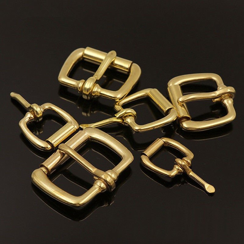 Solid Brass Metal Heel Bar Buckle End Bar Roller Buckle Rectangle Single Pin for Leather Craft Bag Belt Strap Webbing(China)