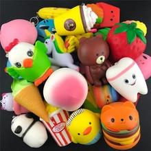 Random 20Pcs Big Jumbo Squishy Kawaii Cute Unicorn Mousse Cream Scented Squishies Slow Rising Kids Toys Doll Stress Relief Toy