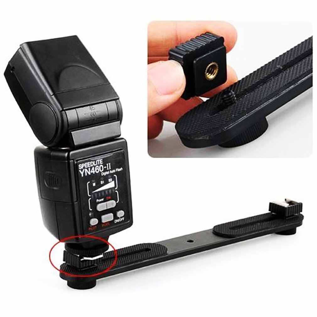 "Kamera Metal sıcak ayakkabı montaj adaptörü 1/4 ""vida dişi stüdyo ışığı Tripod lamba tutucu flaş adaptörü"