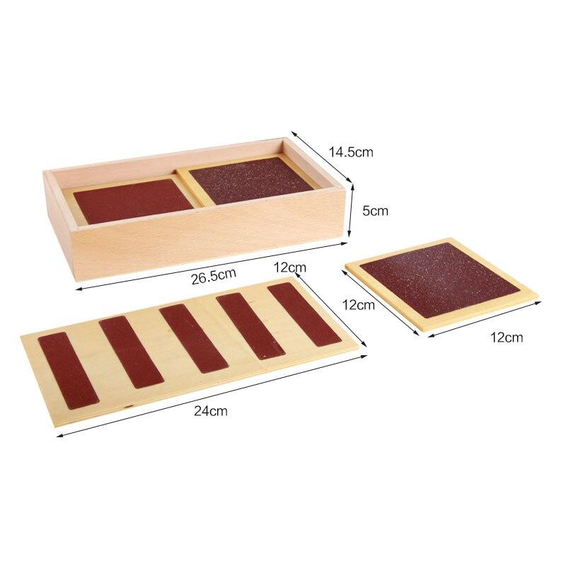 Matériel sensoriel en bois Montessori jouets pour enfants Tactile sens conseil préscolaire Montessori touchant les aides pédagogiques UB2868H - 5