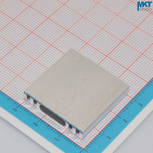 100Pcs 28mmx6mmx28mm Pure Aluminum Cooling Fin Radiator Heat Sink