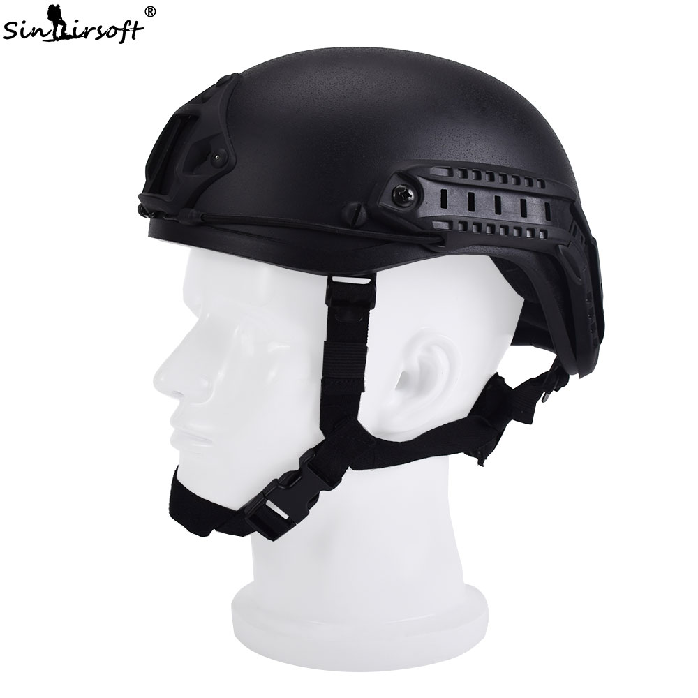 SINAIRSOFT Military Army Tactical Airsoft Protection FAST MH Helmet Combat With ABS Sport Outdoor Protective Helmet high quality outdoor airframe style helmet airsoft paintball protective abs lightweight with nvg mount tactical military helmet