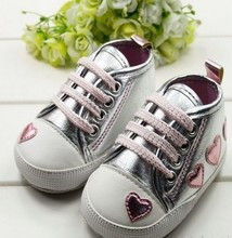 Cute pink Love Style Kid Toddler Baby Shoes 0-18 M