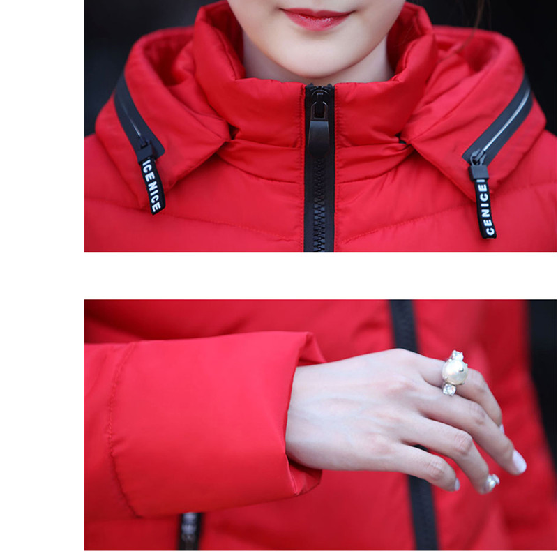 Mode Green Femmes Vêtements Vers light Manteau Gray Mince Corée D'hiver Le Chantiers À Tnlnzhyn black Capuchon Bas Long Épaississent De Coton Grands armygreen pink red rembourré Veste 2019 pxqRzFHw5