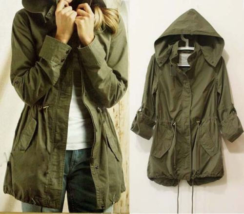 Aliexpress.com : Buy Womens Hoodie Drawstring Army Green Military ...