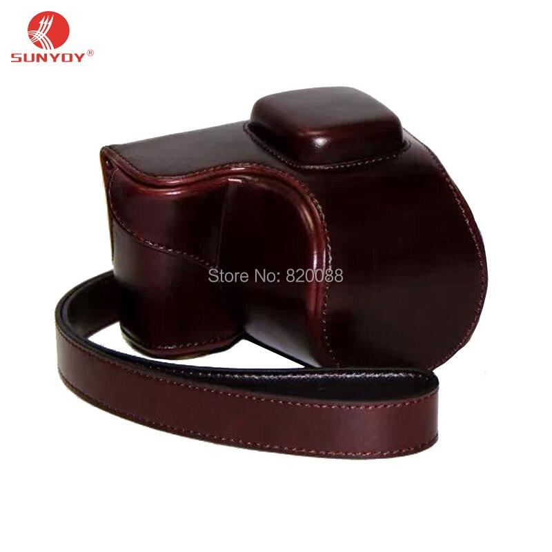 Высокое качество из искусственной кожи Камера чехол для Sony NEX 5 т NEX5R ...