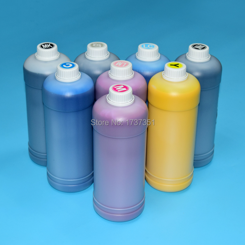 High quality 8color 1000ml hp91 printing pigment ink for hp designjet Z6100 printer refill ink cartridge leather printing ink belt printer ink haiwn pg600 c