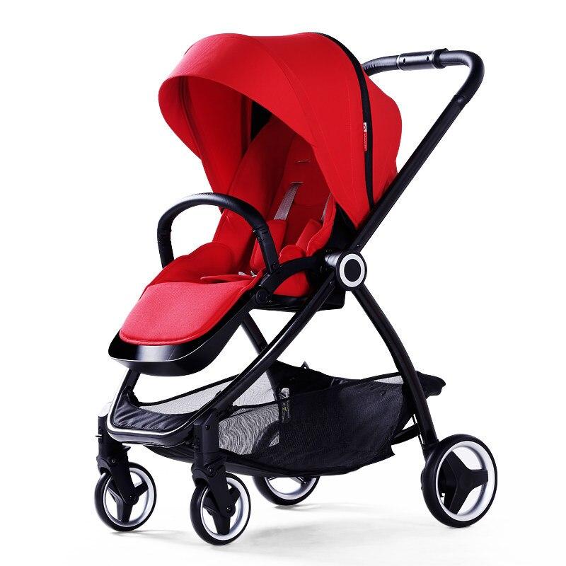 Nouveau haut paysage bébé carrige bidirectionnel bébé landau poussette mode parapluie voiture léger bébé poussette peut plier portable