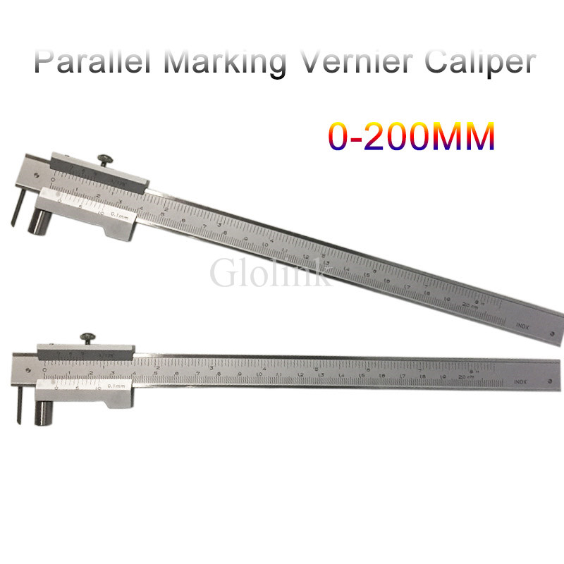 Parallel crossed caliper 0-200mm stainless steel parallel crossed vernier caliper Measurement Tool marking tools