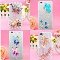 BRICOLAGE à la main Papillon Bling Cas En Cristal De Fleur Couverture pour IPhone 6 6 S 6 Plus Samsung Galaxy Note4/Note 5/Note 7/S6/S6 Bord