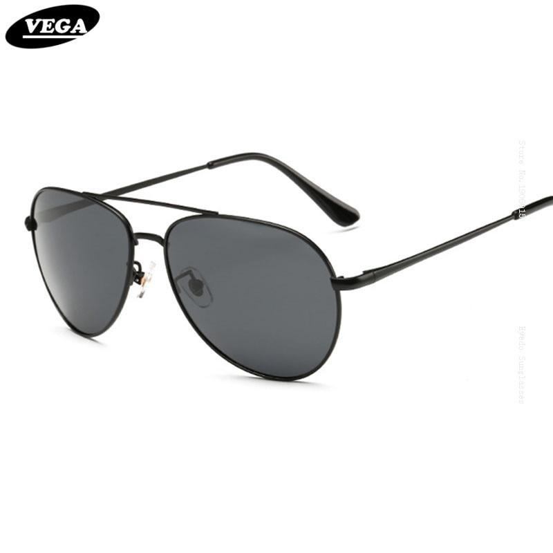 a32019b3c59f6 VEGA Visão HD Autêntico Óculos Polarizados Top Marinha Militar da Força  Aérea Aviador Óculos Polarizados Para Homens Mulheres P8064