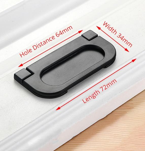 KAK американский стиль черный шкаф ручки цельный алюминиевый сплав кухонный шкаф ручки для выдвижных ящиков оборудование для обработки мебели - Цвет: Handle-6502C-64B