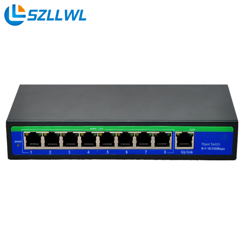 Soho Passive Poe Switch 24V 4/5+ 7/8- ethernet switch poe 8 port supply power for HD high performance cctv camera ip cameras 5 port 10 100m switch converter 1 sc fiber 4 poe power adapter ieee802 3af