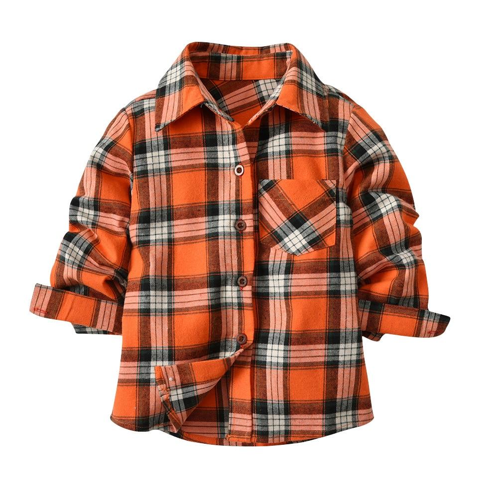 2018 Plaid Shirts For Boys Spring Children School Boys Shirts Camisa Menino Kids Formal Performance Show Gentleman Shirt For Boy