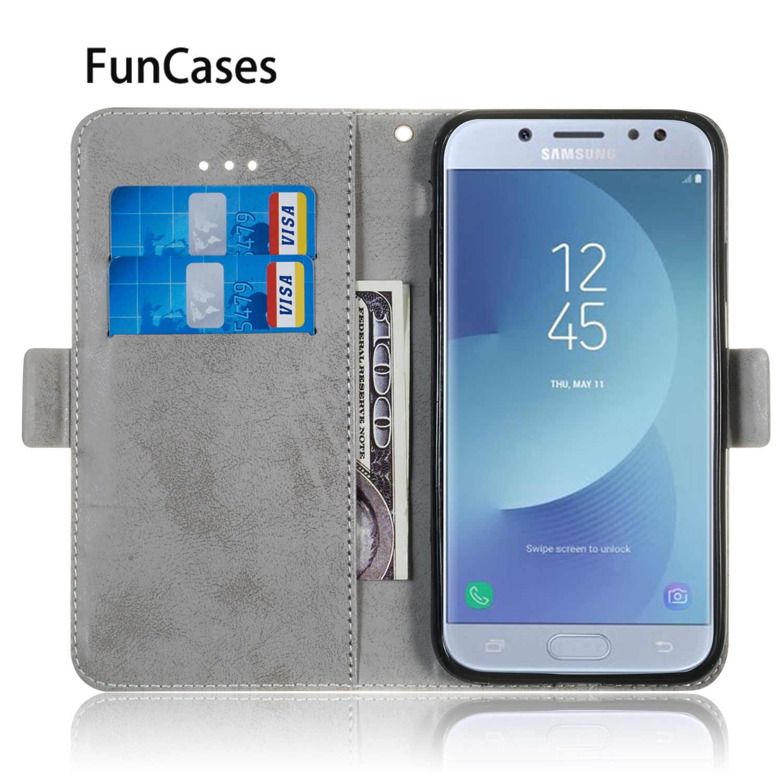 Libro de Negocios caso para Samsung J3 2017 Eurasia para Estuche Samsung Galaxy estuche J330 J3 Pro de cuero de PU Flip caso de cartera