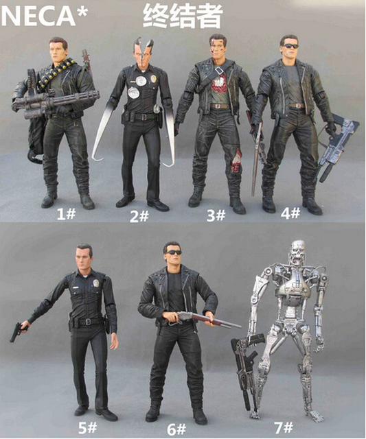 NECA O Exterminador Do Futuro 2 Action Figure T-1000 Pescadero Hospital Toy Figura 15 CM Y6410