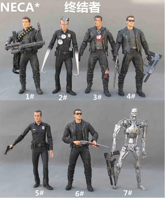 NECA The Terminator 2 figura de acción T-1000 pescado figura de Hospital juguete 15CM Y6410