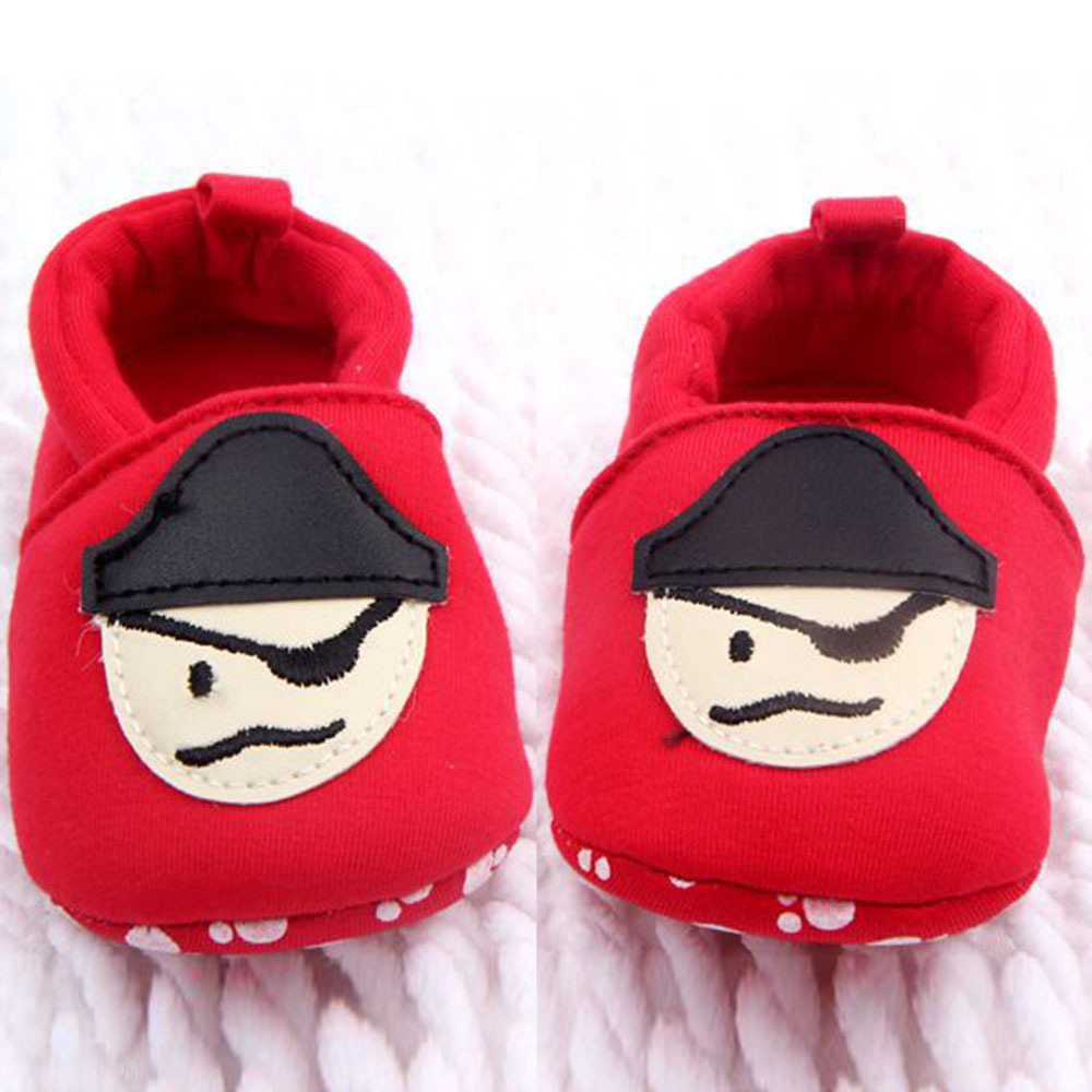 New Style Toddler Baby Shoes Skull Pirate Printed Casual Shoes Soft Bottom Girl Boys Shoes 0-12M